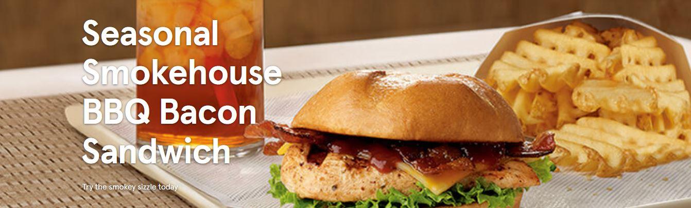 Chick-fil-A Smokehouse Bacon BBQ Chicken Sandwich